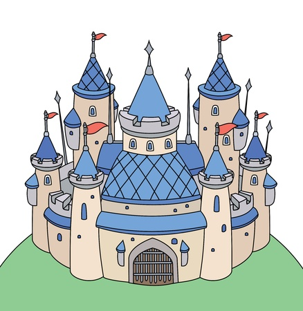 fairy tale castle for boy  Vector
