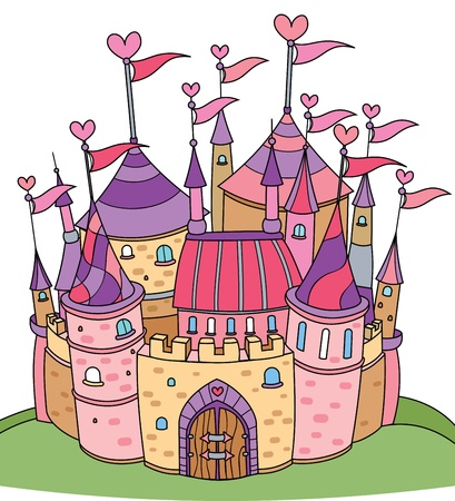 fairy tale castle for girl  Vector