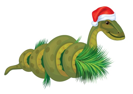 Snake, symbol of 2013 year  Vector