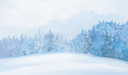 winter landscape  Stock Vector - 15302843
