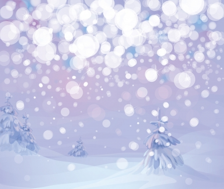 winter landscape   Stock Vector - 15302866