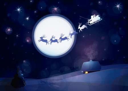 santas sleigh: Santa Claus Sleigh, vector  Illustration