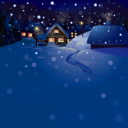 winter landscape  Merry Christmas   Vector