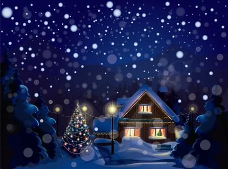 paisaje de invierno Merry Christmas