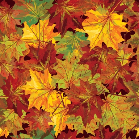 seamless background of autumnal leaves Stock Vector - 15773880