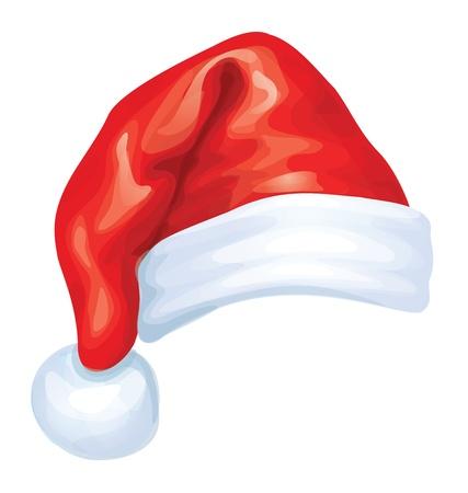 santa hat: Vector of red Santa Claus hat   Illustration