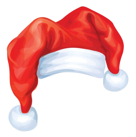 Vector of red Santa Claus hat Stock Vector - 15798951