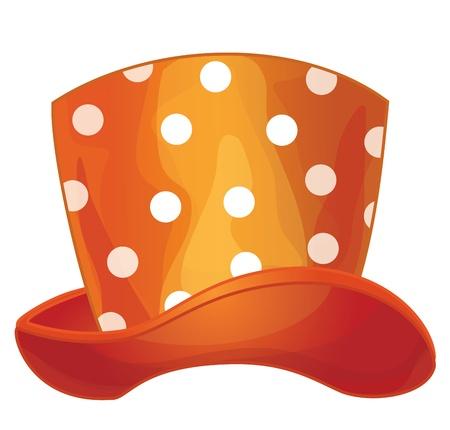 Vecteur de chapeau orange drôle