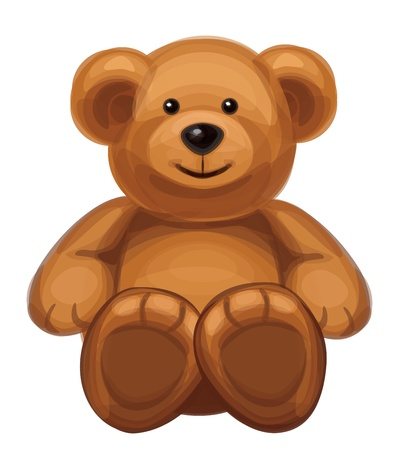 oso caricatura: lindo oso Vectores
