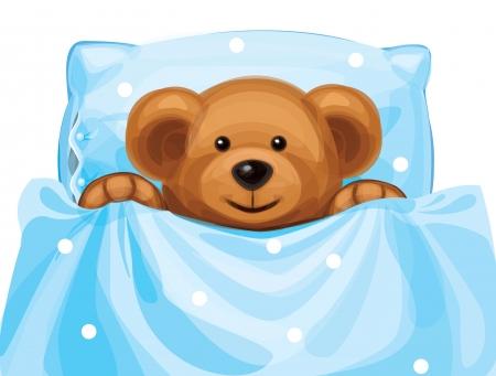 baby bear: cute baby bear in bed