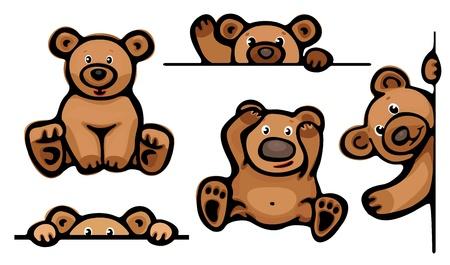 Funny bears   Stock Vector - 15773935