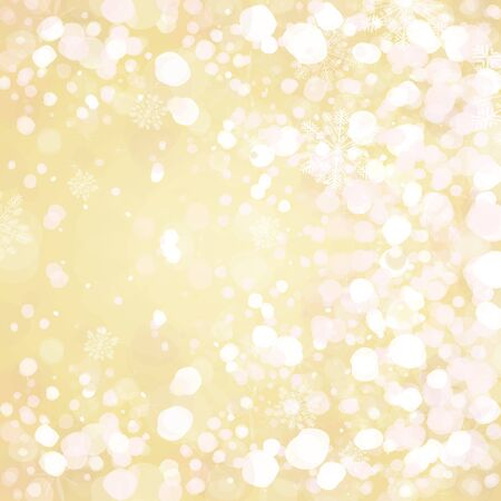 Snow on golden background  Stock Vector - 15773954