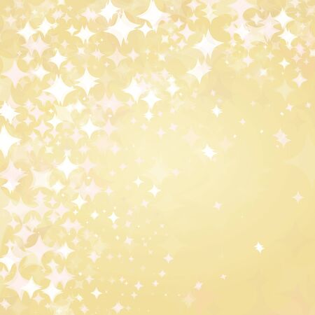 light stars on golden background  Stock Vector - 15773835