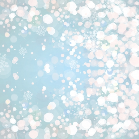 Snow on blue background   Stock Vector - 15773957