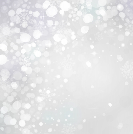 snowing: Lights on grey background