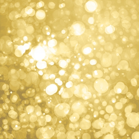 lights on golden background  Stock Photo - 15773836