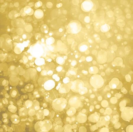 storm background: lights on golden background  Stock Photo