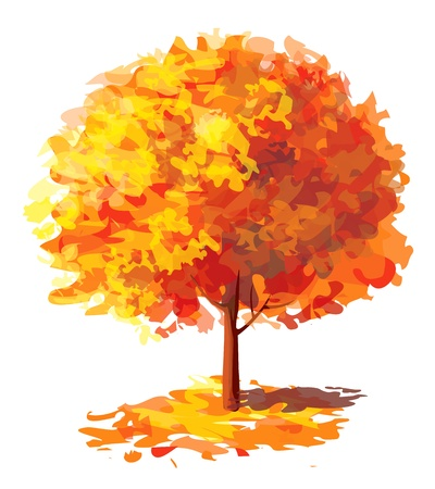 Vector of abstract autumnal tree Stock Vector - 15841414