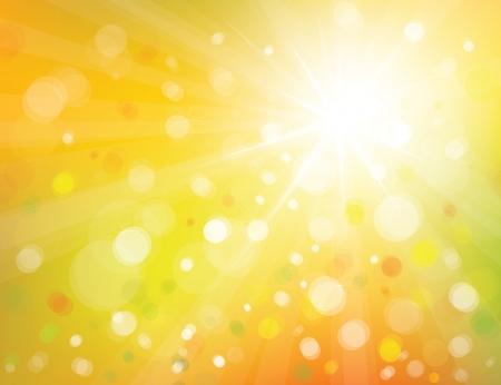 Vector de fondo de cielo con sol