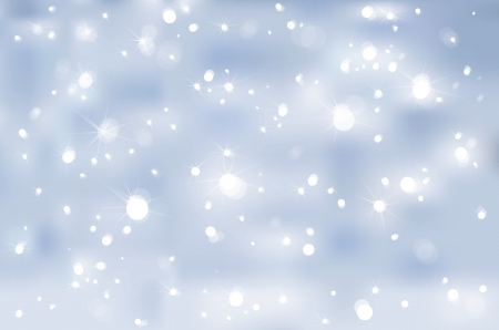 winter wonderland: Stars lights on blue background