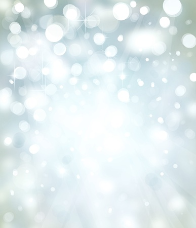 Lights on silver background