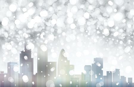 London snowy scene