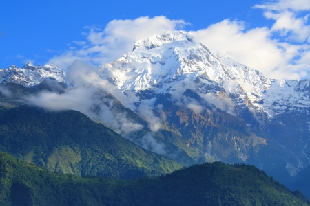 Himalayan mountains in clouds Stock Photo - 18195722