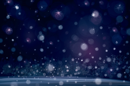of winter snowfall background  Stock Vector - 20044853