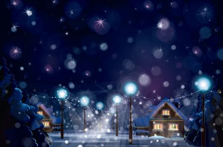 Vector of winter landscape  Merry Christmas  Vector