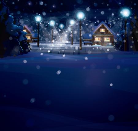 winter wonderland: paesaggio invernale. Buon Natale!