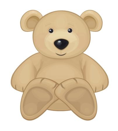 osos de peluche: Oso lindo Vectores
