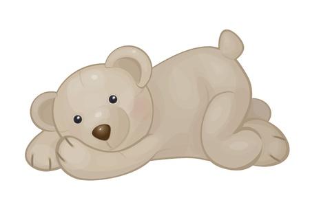 cute bear isolated
