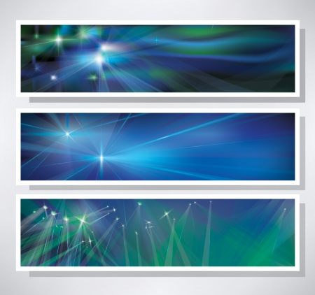 headers:  Set of banners for design  Illustration
