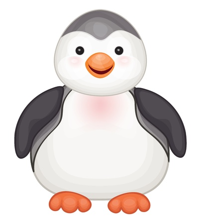 Vector of cute penguin  isolated   Иллюстрация