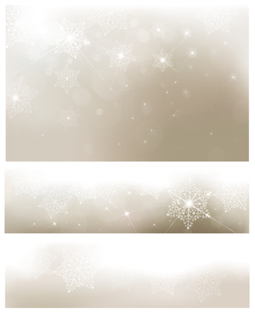 holidays: Vector golden banners and background for Christmas design