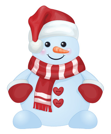 snowman isolated: Vector of fun snowman isolated