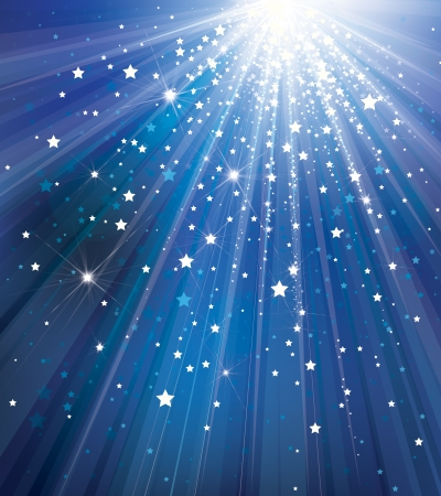 Vector sky background with lights and stars   Vector