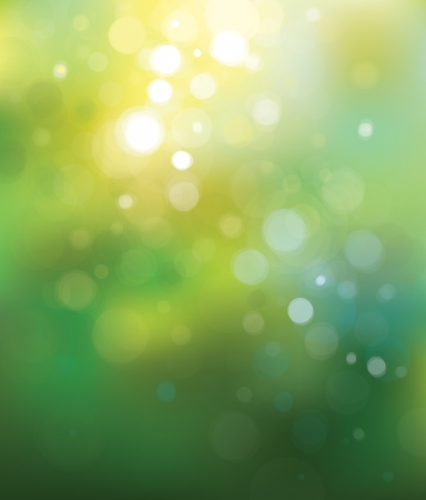 bokeh background: Vector green lights  background. Illustration