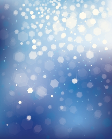 christmas illuminations: Vector blue background with lights and stars   Illustration