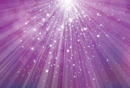 Vector scintillio sfondo viola con raggi di luci e stelle Archivio Fotografico - 24162241