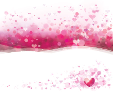 abstract heart background: Vector pink background with hearts for Valentines day design. Illustration