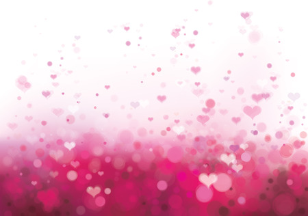 Vector pink background with hearts  Vector