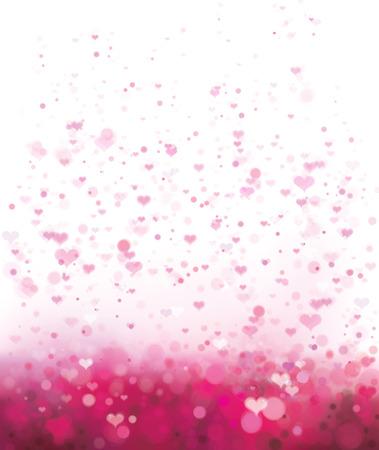 발렌타인의 날 디자인에 대 한 마음과 벡터 핑크 배경입니다.
