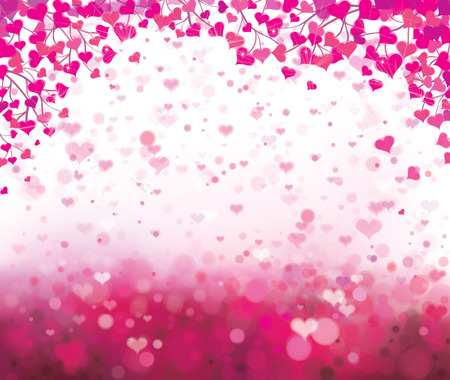 Vector   background with hearts for Valentine Illustration