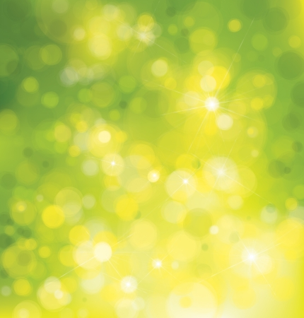 Vector green lights background