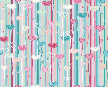 abstract heart background: seamless heart pattern