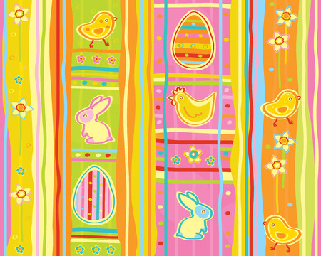 cute seamless pattern, happy Easter  Vector