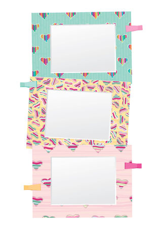 colorful empty photo frames isolated  Vector