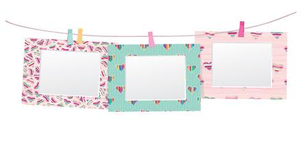 colorful empty photo frames isolated   Illustration