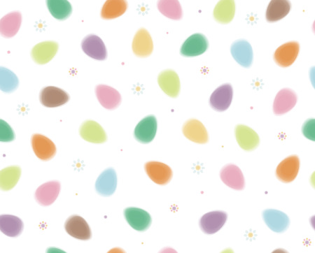Vector seamless pattern of Easter eggs, blurred, soft effect  Vector